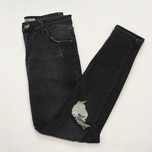 Topshop Jamie High Rise Skinny Jeans Distressed